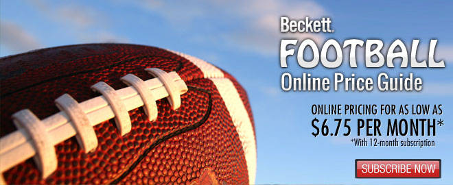 Beckett Football Online Price Guide