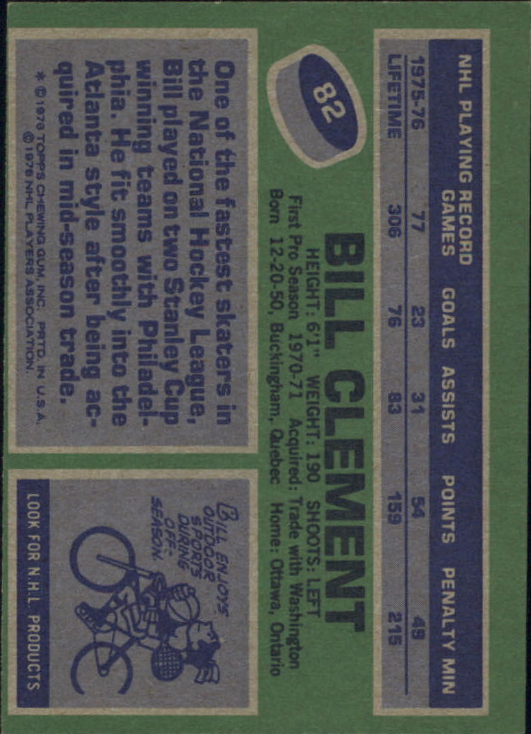 1976-77 Topps #82 Bill Clement back image