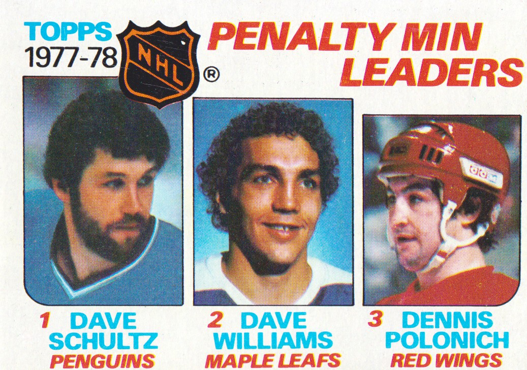 1978-79 Topps #66 Penalty Minutes/Leaders/Dave Schultz/Tiger Williams/Dennis Polonich