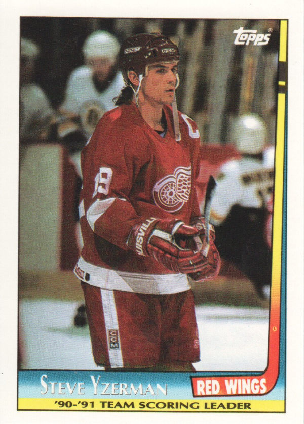 1991-92 Topps Team Scoring Leaders #3 Steve Yzerman