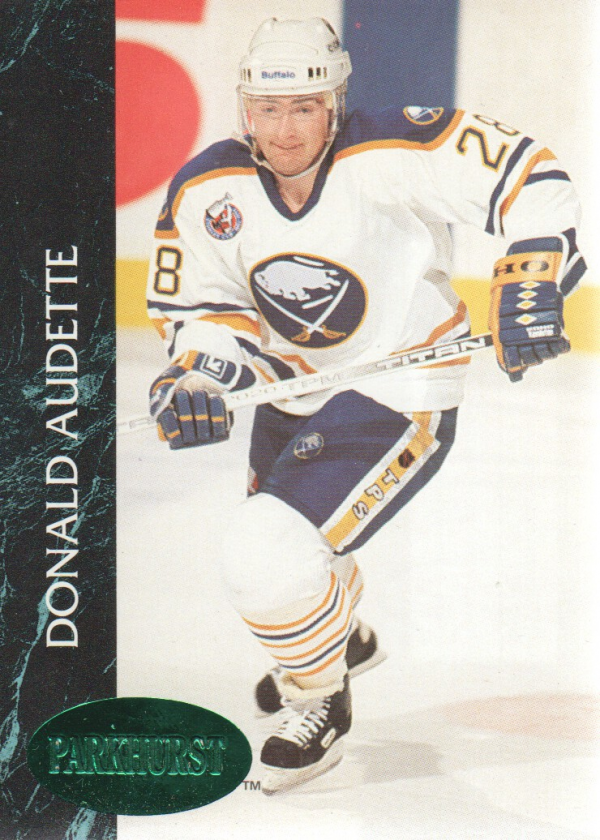 1992-93 Parkhurst Emerald Ice #18 Donald Audette