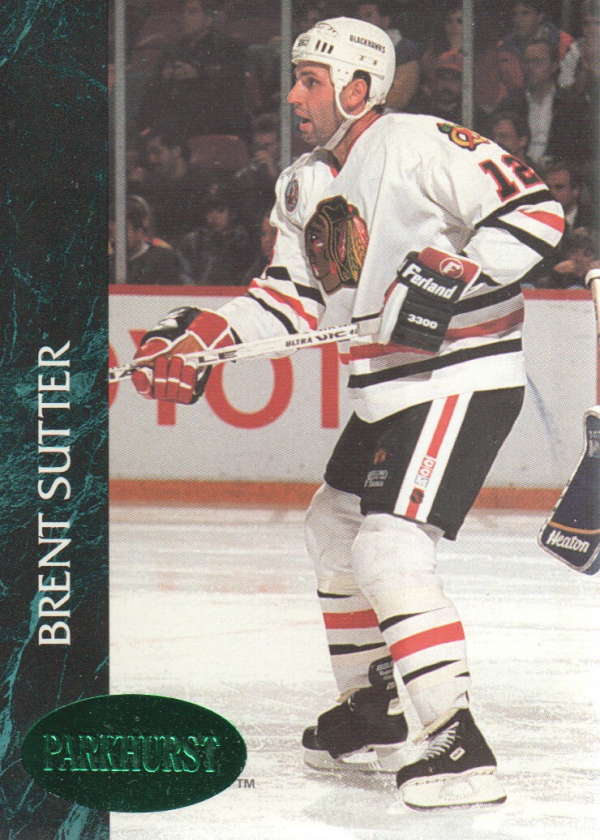 1992-93 Parkhurst Emerald Ice #33 Brent Sutter