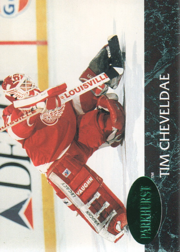1992-93 Parkhurst Emerald Ice #37 Tim Cheveldae