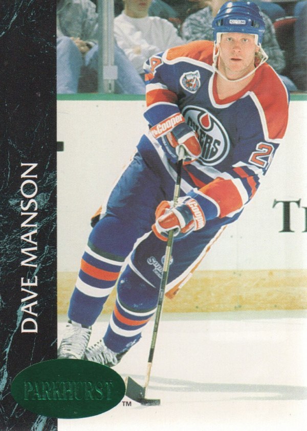 1992-93 Parkhurst Emerald Ice #47 Dave Manson