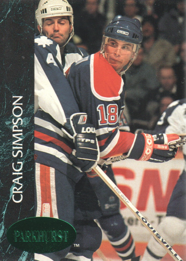 1992-93 Parkhurst Emerald Ice #51 Craig Simpson