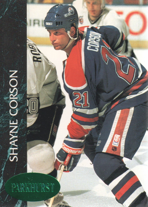 1992-93 Parkhurst Emerald Ice #53 Shayne Corson