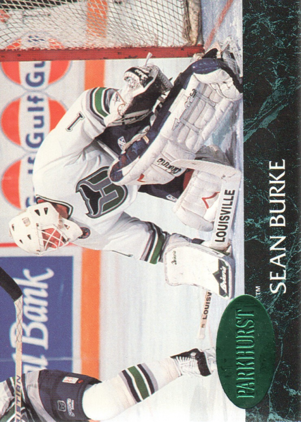 1992-93 Parkhurst Emerald Ice #57 Sean Burke