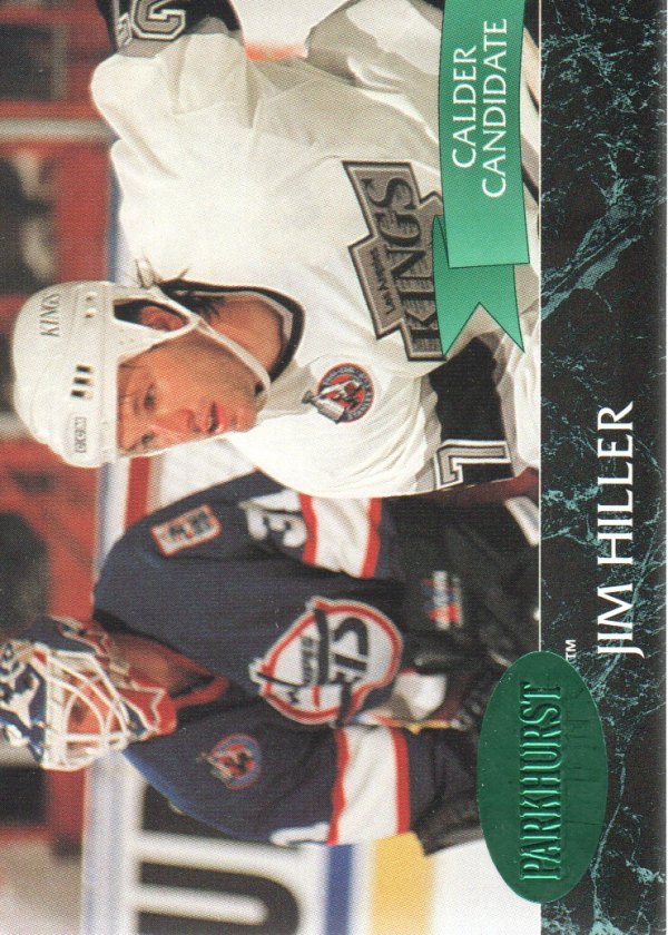 1992-93 Parkhurst Emerald Ice #70 Jim Hiller