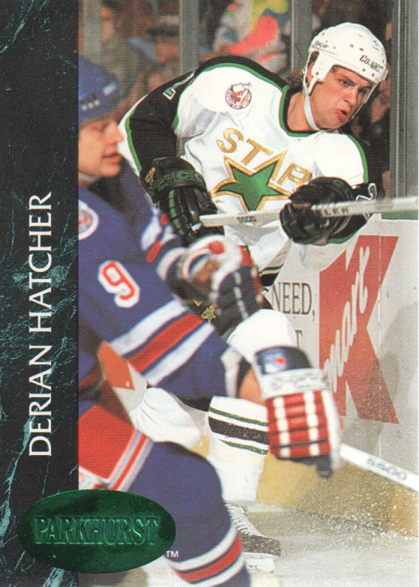 1992-93 Parkhurst Emerald Ice #72 Derian Hatcher