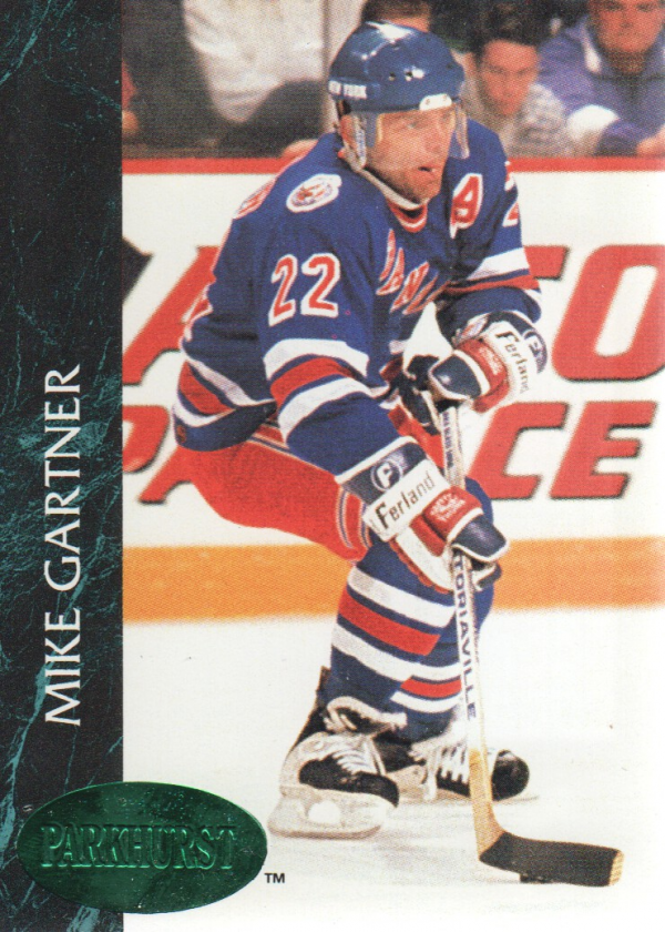1992-93 Parkhurst Emerald Ice #108 Mike Gartner
