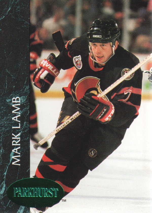 1992-93 Parkhurst Emerald Ice #116 Mark Lamb