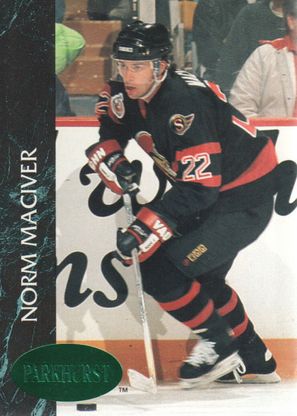 1992-93 Parkhurst Emerald Ice #117 Norm Maciver