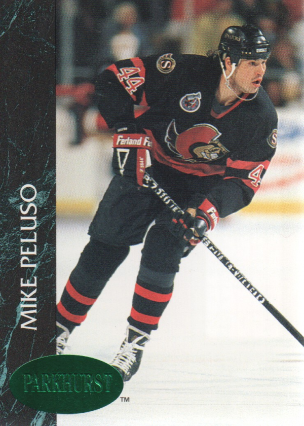 1992-93 Parkhurst Emerald Ice #118 Mike Peluso
