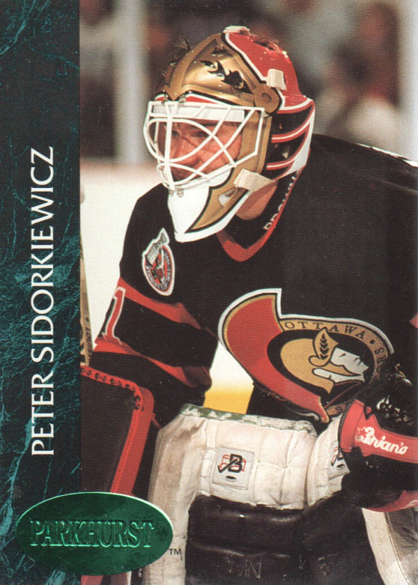 1992-93 Parkhurst Emerald Ice #120 Peter Sidorkiewicz