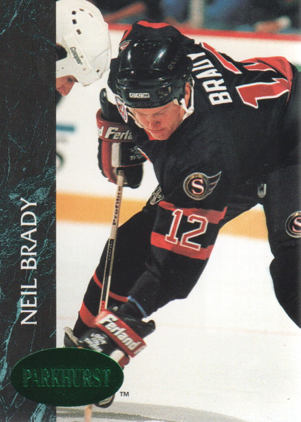 1992-93 Parkhurst Emerald Ice #124 Neil Brady