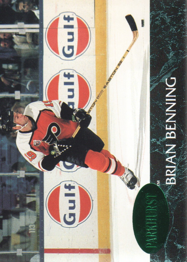 1992-93 Parkhurst Emerald Ice #125 Brian Benning