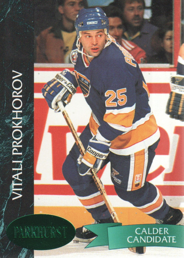 1992-93 Parkhurst Emerald Ice #157 Vitali Prokhorov