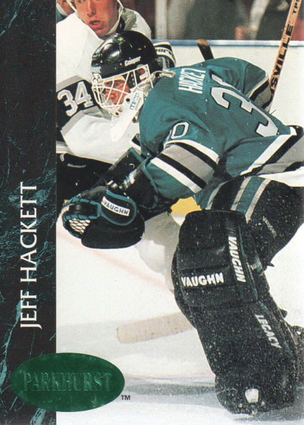 1992-93 Parkhurst Emerald Ice #162 Jeff Hackett
