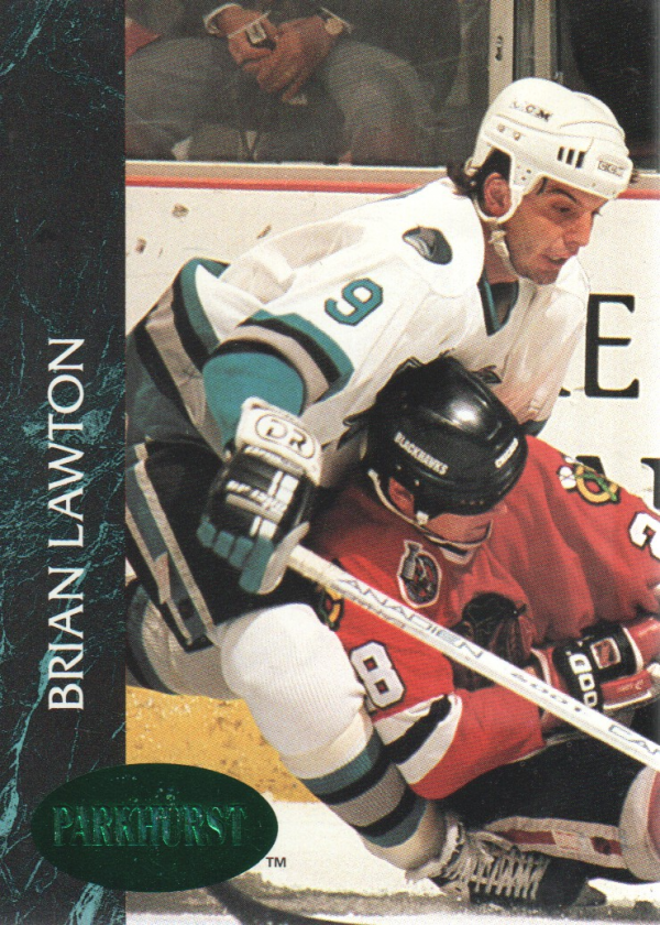 1992-93 Parkhurst Emerald Ice #163 Brian Lawton