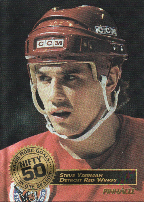 1993-94 Pinnacle Nifty Fifty #8 Steve Yzerman