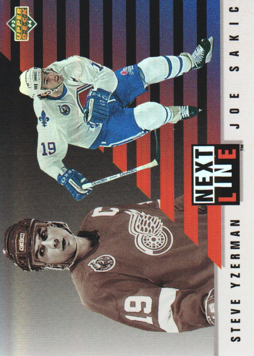 1993-94 Upper Deck Next In Line #NL3 Steve Yzerman/Joe Sakic