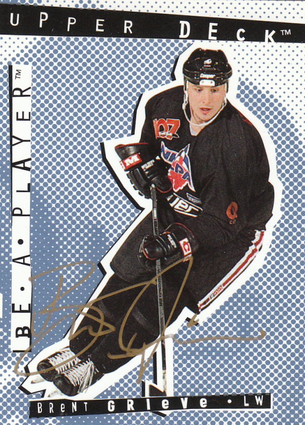 1994-95 Be A Player Autographs #42 Brent Grieve