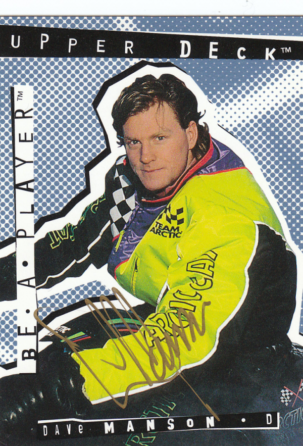 1994-95 Be A Player Autographs #95 Dave Manson