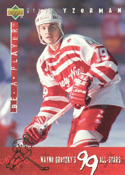 1994-95 Be A Player 99 All-Stars #G19 Steve Yzerman