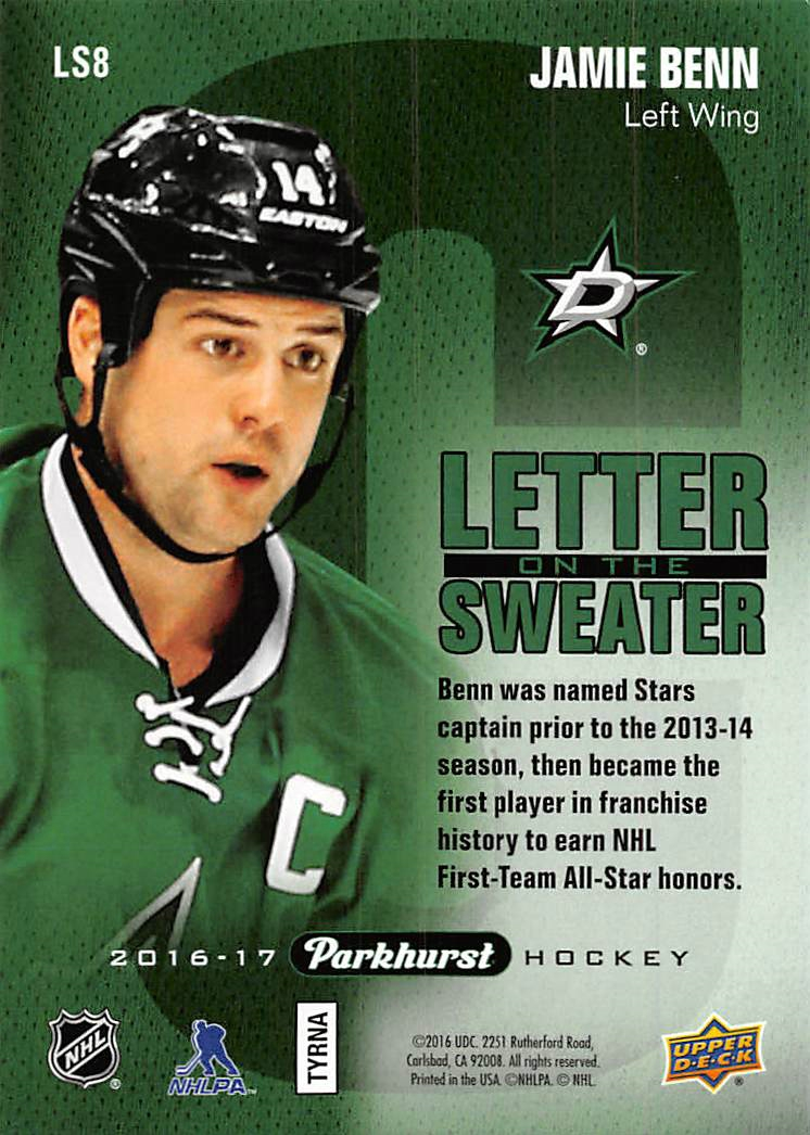 2016-17-Parkhurst-Letter-On-The-Sweater-Pick-From-List