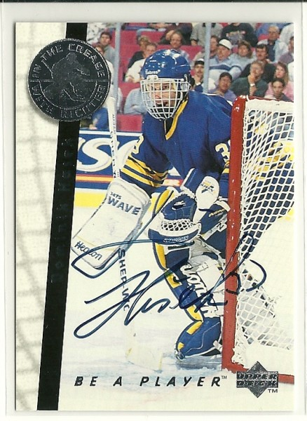 1995-96 Be A Player Autographs #S192 Dominik Hasek