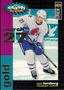 1995-96 Collector's Choice Crash the Game Gold #C20A Peter Forsberg