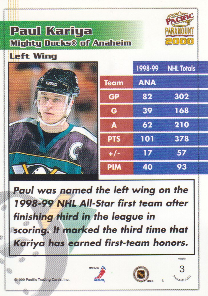1999-00-Paramount-Emerald-Parallel-Hockey-Cards-Pick-From-List thumbnail 3