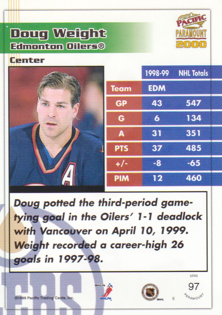1999-00-Paramount-Emerald-Parallel-Hockey-Cards-Pick-From-List thumbnail 9