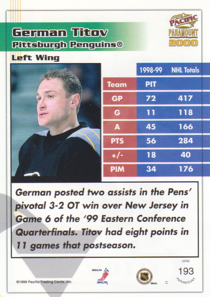 1999-00-Paramount-Emerald-Parallel-Hockey-Cards-Pick-From-List thumbnail 37