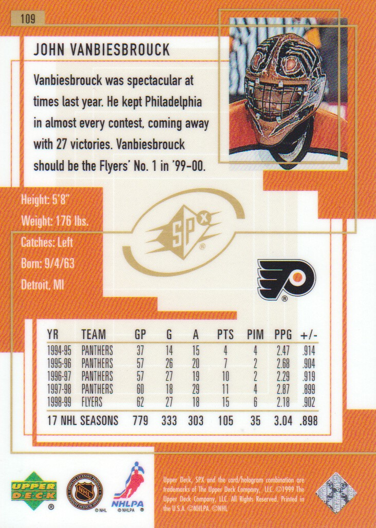 1999-00-SPx-Hockey-Cards-Pick-From-List miniature 161