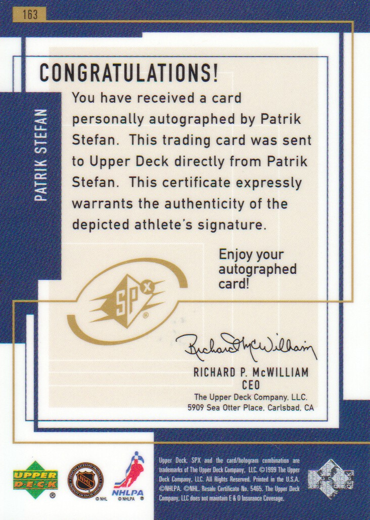 1999-00-SPx-Hockey-Cards-Pick-From-List miniature 241