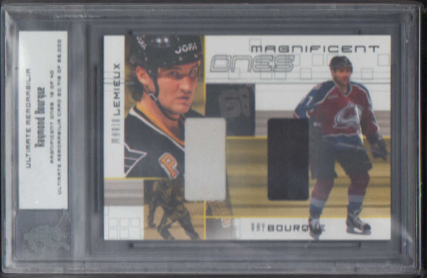 2000-01 BAP Ultimate Memorabilia Magnificent Ones #ML6 Ray Bourque/Mario Lemieux