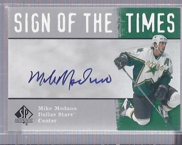 2000-01 SP Authentic Sign of the Times #MO Mike Modano