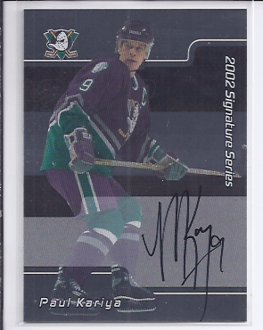 2001-02 BAP Signature Series Autographs #LPK Paul Kariya SP