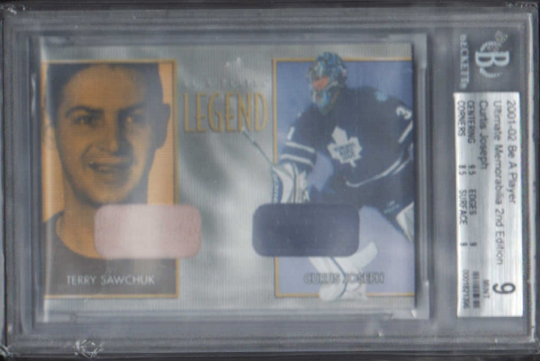 2001-02 BAP Ultimate Memorabilia Legend Terry Sawchuk #4 Curtis Joseph/Terry Sawchuk