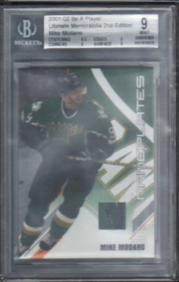 2001-02 BAP Ultimate Memorabilia Name Plates #29 Mike Modano/50