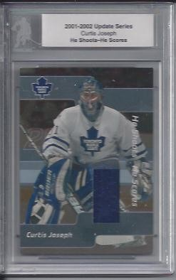 2001-02 BAP Update He Shoots He Scores Prizes #38 Curtis Joseph P
