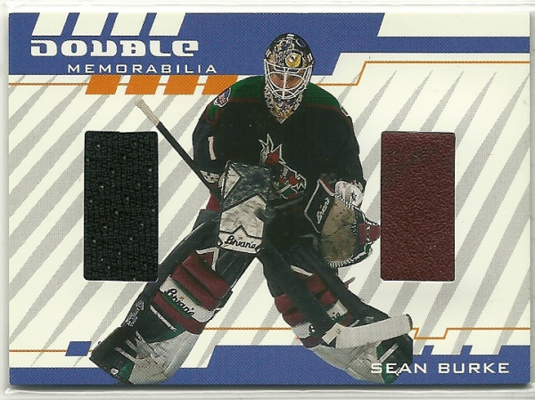 2001-02 Between the Pipes Double Memorabilia #DM17 Sean Burke