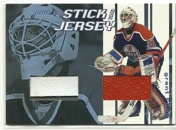 2001-02 Between the Pipes Jerseys and Sticks #GSJ41 Grant Fuhr