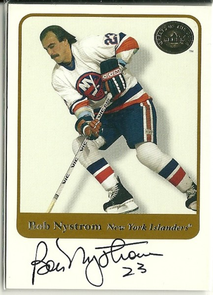 2001-02 Greats of the Game Autographs #4 Bob Nystrom