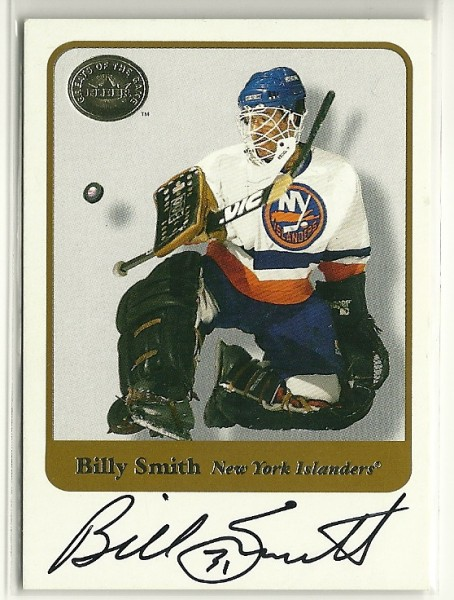 2001-02 Greats of the Game Autographs #17 Billy Smith