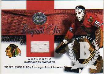 2001-02 Greats of the Game Jerseys #2 Tony Esposito
