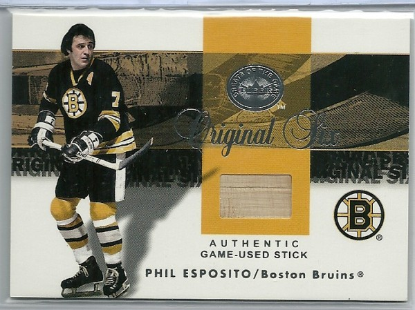 2001-02 Greats of the Game Sticks #2 Phil Esposito