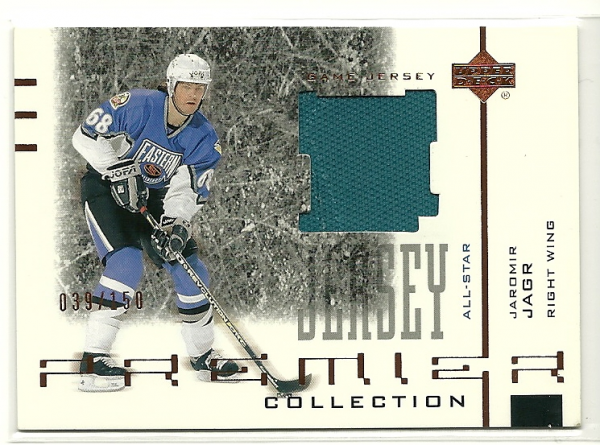 2001-02 UD Premier Collection Jerseys Black #BJA Jaromir Jagr B