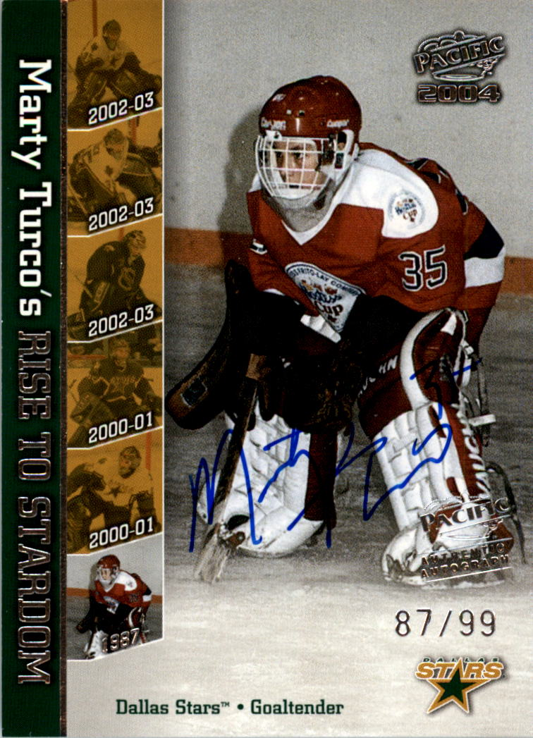 2003-04 Pacific Marty Turco Autographs #1 Marty Turco/1987